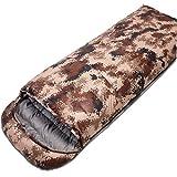 DONGY Camouflage Daunenschlafsack 4 Season im Freien tragbare Adult Nap Umschlag Schlafsack wasserdicht Splicable 210 * 80cm