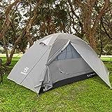 Bessport Zelt 1-2 Personen Ultraleichte Camping Zelt Wasserdicht 3-4 Saison Kuppelzelt Sofortiges Aufstellen für Trekking, Outdoor, Festival, mit kleinem Packmaß