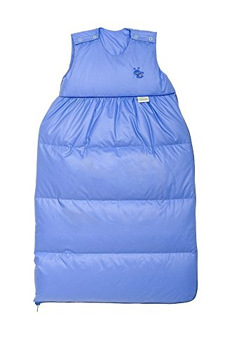 Odenwälder Daunen-Schlafsack Classic, Größe:70;Design:himmelblau